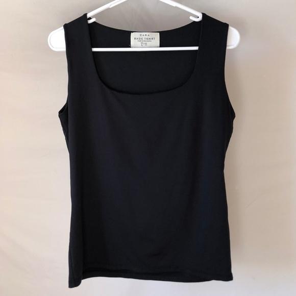 Zara Tops - Zara Basics Black Sleeveless Top Size Large